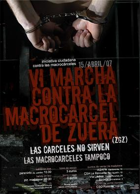 VI Marcha contra la Macrocárcel de Zuera. Domingo 15 d'Abril.