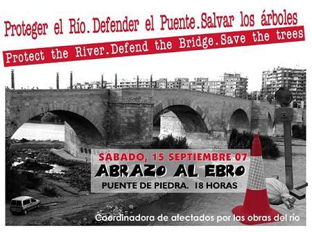 Abrazo a l'Ebro iste sabado 15