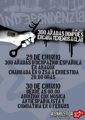 29 Chunio A Enrestida. 300 añadas d'ocupazión española en Aragón.