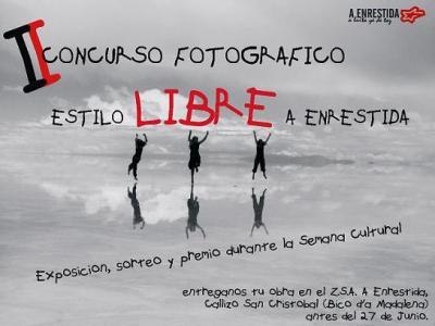"""BASES  II  CONCURSO FOTOGRÁFICO ESTILO LIBRE """"A ENRESTIDA"""""""